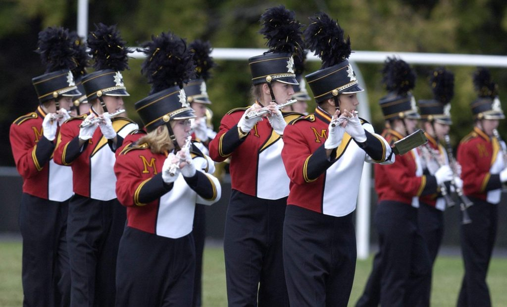 The Scarlet Spectrum Marching Band from Marion High School