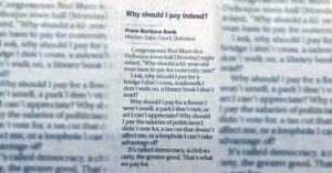 A letter authored by Barbara Rank published in the May 12 edition of the Dubuque Telegraph-Herald and quickly rose in prominence on several online sites.