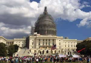 Citizens gathered on the U.S. Capitol Complex on Wednesday, Sept. 9, 2015. (Lynda Waddington/The Gazette)