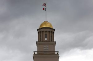 The dome of the Old Capitol Building on the Pentacrest on campus of the University of Iowa in Iowa City on Wednesday, April 30, 2014.