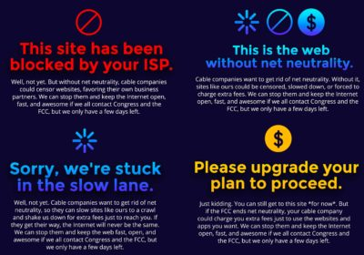 Act now for net neutrality