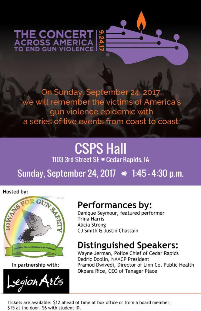 Cedar Rapids - Concert Across America