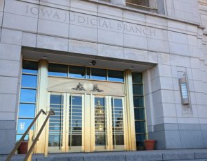 The Iowa Judicial Branch building in Des Moines on Wednesday, January 15, 2014. Justices recently heard a case that may determine if voters can oust official engaging in sexual harassment.