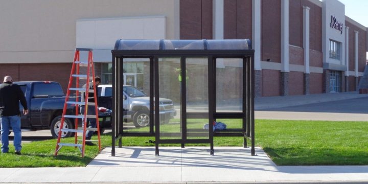 New bus shelter at Westdale