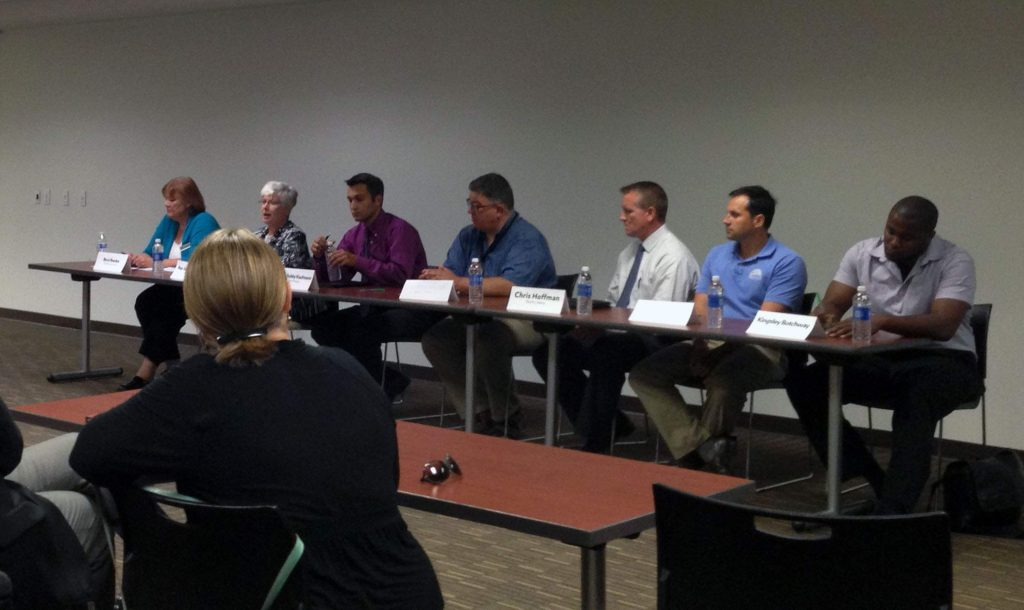 State and local elected officials discussed food insecurity Tuesday at the Coralville Public Library. The Hunger Forum was hosted by The Crisis Center of Johnson County.